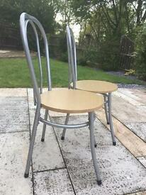2 metal/wood chairs