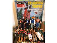 24 Action Men with Training Tower!