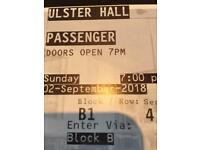 Passenger - front row - 1 ticket - £50