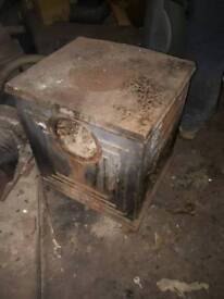 Reclaim heavy victorian cast iron wood burner with outlet