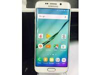 64GB Samsung Galaxy S6 Edge Smart Mobile Phone WHITE - Unlocked Very good condition