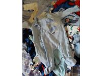 Baby boy clothes 8 sleep suites and a few bottoms and tops
