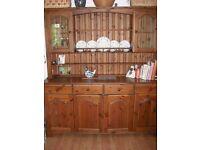 Solid Wood Bradgate Dark Stain Pine Dresser