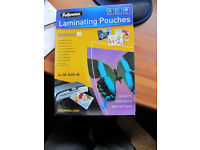 4 packs of 100 A4 80 micron laminating pouches. Unopened!