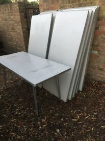 12 fold down tables ideal for car boots etc, etc general wear and tear