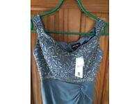 Grey Formal / Evening Dress. Size 8.