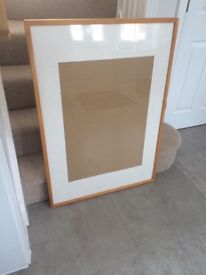 Very large wooden picture frame