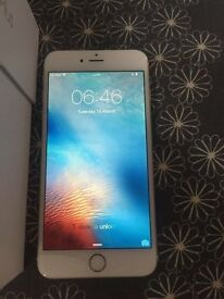 APPLE IPHONE 6s white gold 16 gig gb vodafone but can unlock open