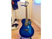 Acoustic-electric guitar – Yamaha APX700, Cobalt Aqua Blue finish