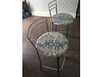 2 x breakfast bar stools