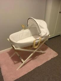 Never been used mamas and papas Moses basket