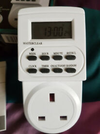 NEW UNUSED Electronic digital mains Timer Socket Plug-in with LCD Display 12/24 Hour 7 Days