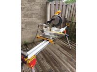 Dewalt 110v compound mitre saw ,dewalt folding extendable stand , fox dust extractor/hoover