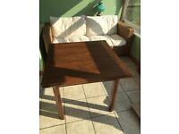 Antique Oak double leaf table and 4 chairs