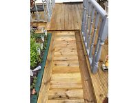 All manor of garden improvements : fencing, decking, gates, sheds you name it we can build it!