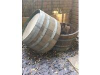 2x Half Barrel Planters