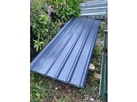 JUST IN!! Slate blue polyester coated box profile roofing sheets