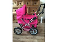 Dolls Pram, Baby dolls, Carry cot/seat Baby Annabell,Tiny Tears, Baby Born