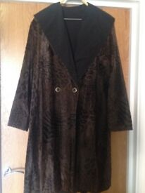 ladies coat, reversible, size 14