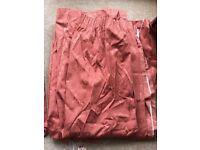 Terracotta curtains, pelmets, tie backs and cushion covers