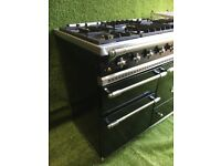 Black and chrome Lacanche Chemin Range cooker Large oven Handmade 140 appliance