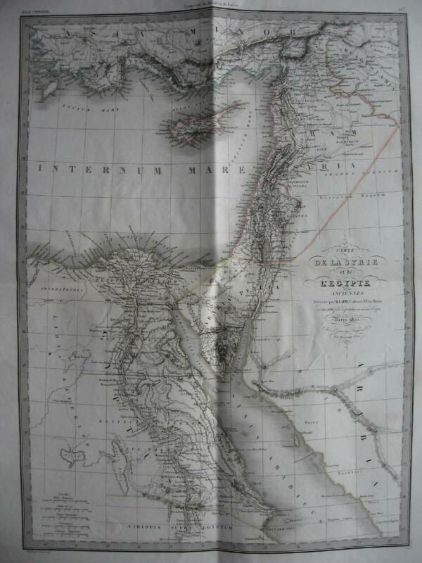 1833 - LAPIE - Large map ANCIENT MIDDLE EAST CYPRUS SYRIA ISRAEL EGYPT