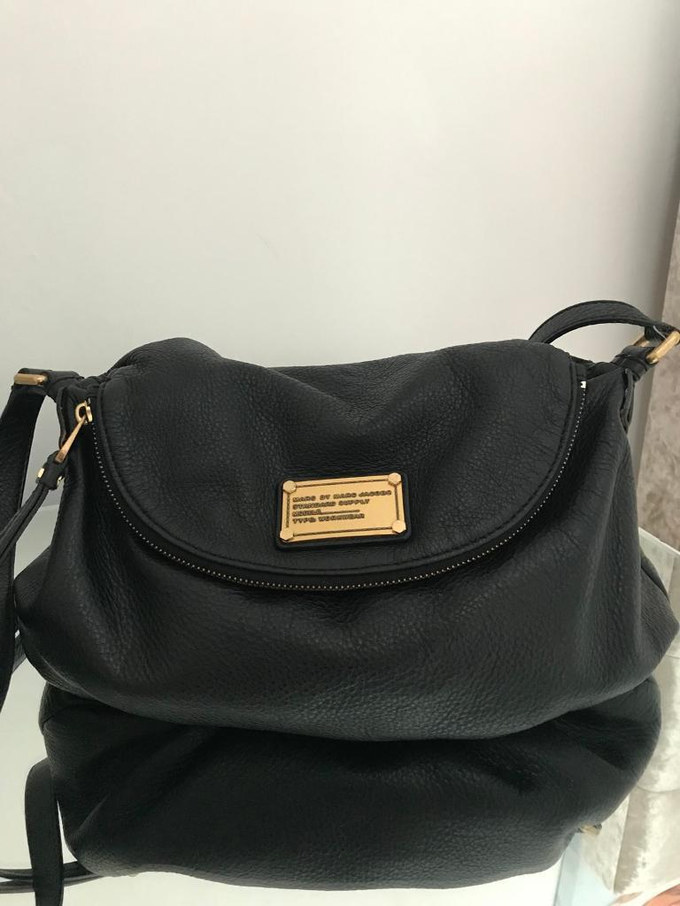 Genuine Marc Jacobs Natasha Black Leather Messenger Bag