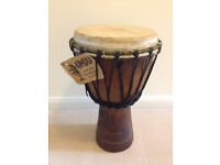 KAMBALA DJEMBE DRUM SIZE =10 X 18 Good condition