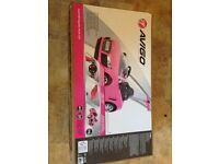 Audi push buggy with canopy in pink