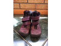 Girls Purple Ecco Winter Boots