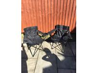 CAMPING / FOLD UP CHAIRS - LIKE NEW
