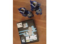 Grey/Blue Boy's Roller skates; adjustable UK Size 12-2; In box; as new