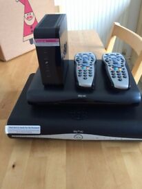 2 X SKY BOXES -1 WFI HUB PLUS 2 REMOTE CONTROLS