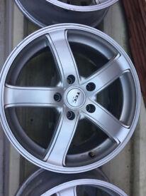 "TEC Alloy wheels 17"" inch x 7.5j 5x120 BMW 1 2 3 4 5 z3 z4 series Mini countryman paceman saab 95"