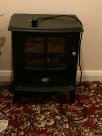Electric fan heater, fake log burner