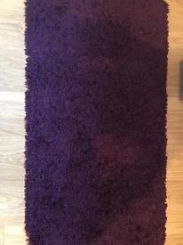 Purple Shaggy Rug - 110cm x 60cm