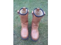 Amblers tan leather womens safety boots size 4 nearly new