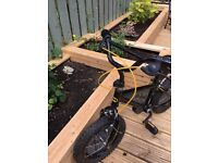 14 inch Batman bike with stabilisers