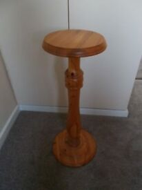 Solid pine torchiere/plant stand