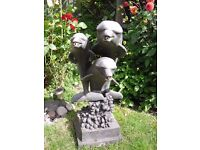 Pond or garden water feature-3 dolphins. Made of heavy duty fibre glass,