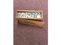 Dominos in Wooden Box