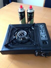Camping Gas Stove with two New Refills