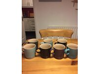 7 Le Creuset mugs in various colours