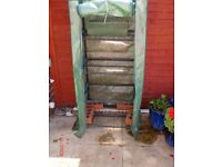 4Tier metal frame greenhouse with plastic cover