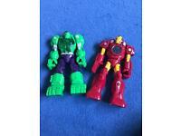 Hulk & iron man toy