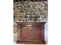 1:5m solid mahogany pub counter and back bar