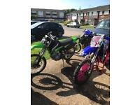 Yz 125 and Klx 250