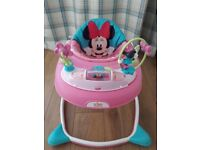 Disney Minnie Mouse Bows and Butterflies baby walker.