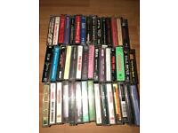 Collection of thrash metal cassettes some death metal and some rock