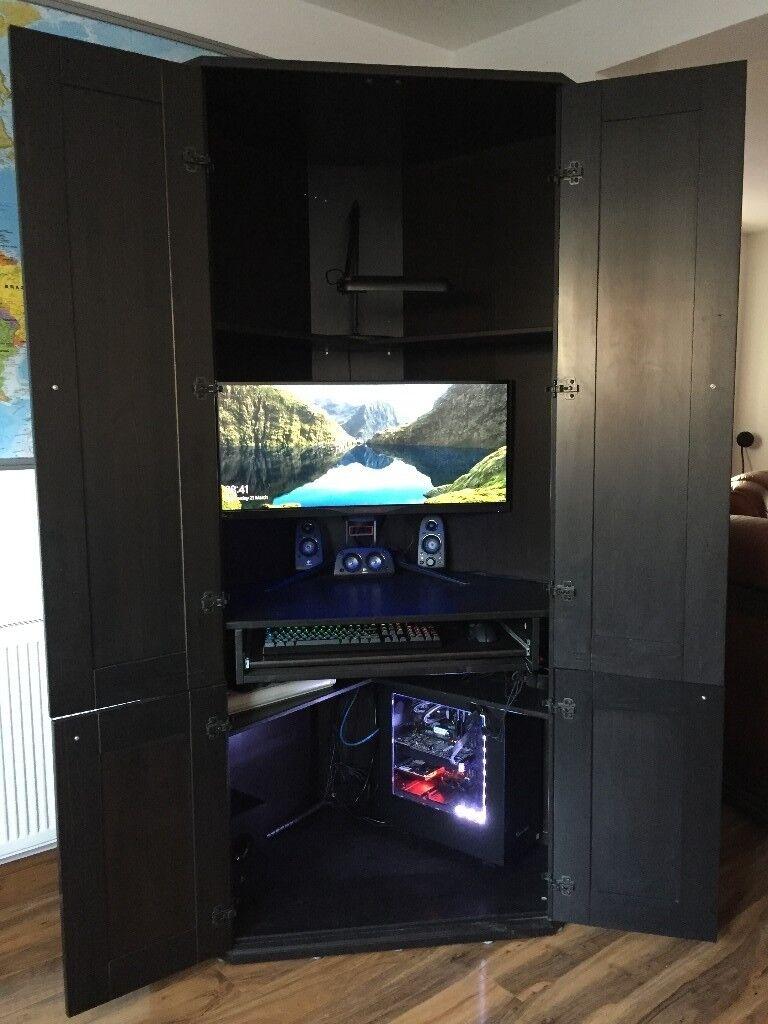 Pc Playstation Xbox Workstation Gaming Desk Ikea Alve